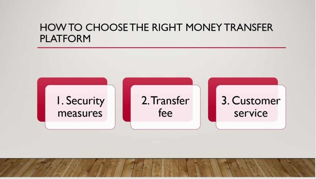 A presentation of how to choose the right money transfer platform